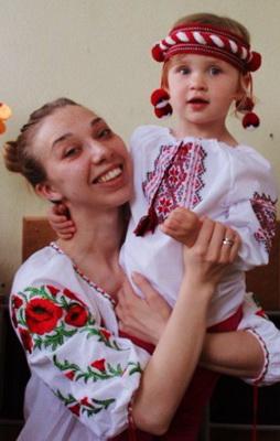 Праправнучка Алексия с мамой